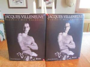 Jacques VILLENEUVE portrait  d'un CHAMPION formule 1 idée cadeau