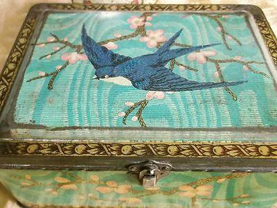 Rare Antique Bluebird Luxury Assortment Tin