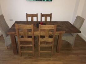 Rough Wood Sawn Table
