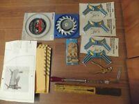 Door lock set & saw set tool