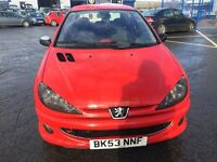 PEUGEOT 206 GTI (red) 2003