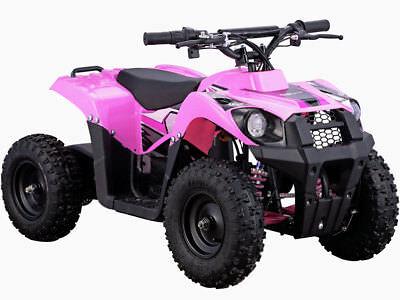 MotoTec 36v 500w ATV Monster v6 Kids 36V Mini Quad ATV Dirt Motor Bike Pink