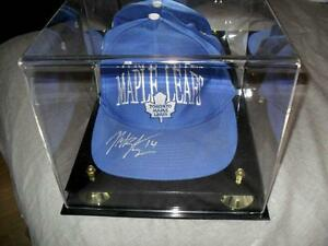 Stajan Maple Leafs Hockey Signed Hat Cap Flames + Bobblehead