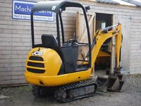 Mini digger JCB 8014, 2013, 3 buckets, quick hitch, real tidy.