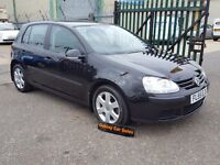 VOLKSWAGEN GOLF 1.4 S 5 DOOR MANUAL PETROL IN BLACK FSH ALLOY WHEELS (black) 2005