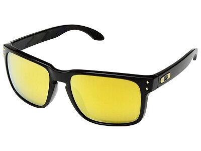 Oakley Holbrook Sunglasses OO9102-E355 Polished Black/24K Gold Iridium