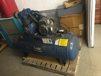 Quincy Qt50cb Climate Control Air Compressor 3hp 80 Gallon Horizontal Tank