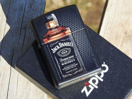 Zippo Lighter - Jack Daniels Bottle - Old No. 7 - Tennessee Whiskey - Black