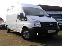 2012 Ford Tarnsit LWB FWD 125 T300 Euro5 Van In White