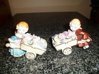 2 MADE IN JAPAN GLASS FIGURINES  *FERGUS*
