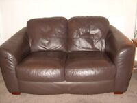 Real leather 2 seater sofa