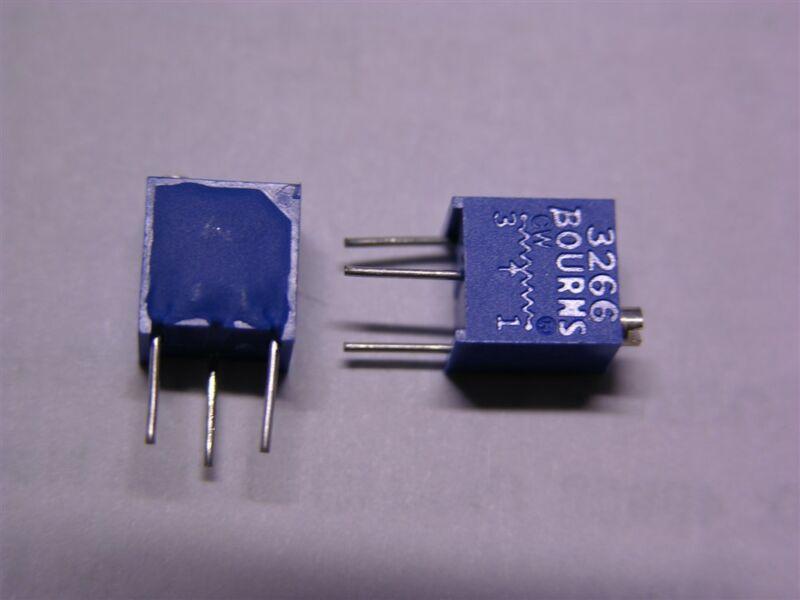 "15 Bourns 3266W-1-202 1/4"" 2K Square Top Adjust Trimming Potentiometers"