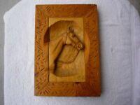 P Laplante 1950 Wood Signed Sculpture AMAZING CARVING Horse