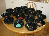 Old Vinyl Records Made into SNACK - BOWLS