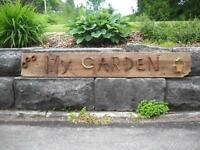 Rustic Garden Art Signs