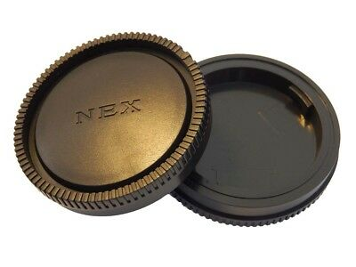 Objektivdeckel Set Rück- und Gehäusedeckel für Sony NEX-E Bajonett System Sony Gehäuse