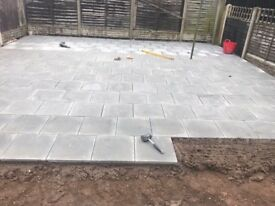 All landscaping work driveway fencing patio turfing slabing