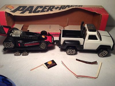 TONKA VINTAGE SHELL Pacer Car Rare Transporter (Complete all 3 pieces) with box for sale  Shipping to Canada