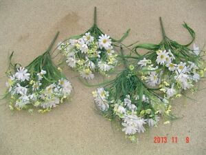 40 PCS. OF ARTIFICIAL SILK FLOWERS & GREENERY Windsor Region Ontario image 2