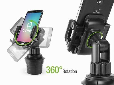 Car Mount Cell Phone Cup Holder Cradle Stand for iPhone  X,