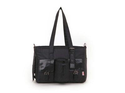 Black Jacquard Nylon Pet Dogs Carrier Bag Fashion Small Puppy Dogs Bag - Jacquard Pet Carrier