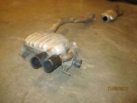 BMW 135i twin turbo exhaust system