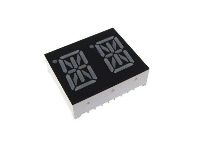 "0.54"" 2 Digit ALPHNUM LED Display DIP common anode - Red"