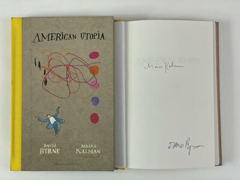 """DAVID BYRNE SIGNED AUTOGRAPH """"AMERICAN UTOPIA"""" BOOK - TALKING HEADS: 77 RARE!"""