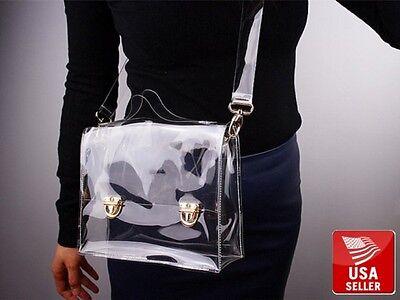 Transparent Stylish PVC Purse Clear Handbag Tote Shoulder Crossbody Bag Fashion