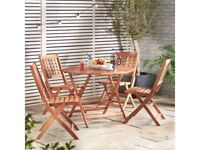 **FREE & FAST UK DELIVERY** VonHaus 5 Piece Outdoor Hardwood Garden Dining Set - BRAND NEW!