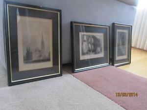 3 Framed Bartlett Prints