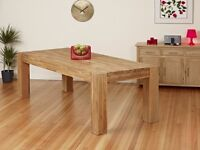Solid Oak Dining Table With Chunky Legs £199