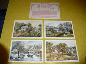 FOUR CURRIER & YVES LITHOGRAPHS ( $ 14.00 FOR 4 )