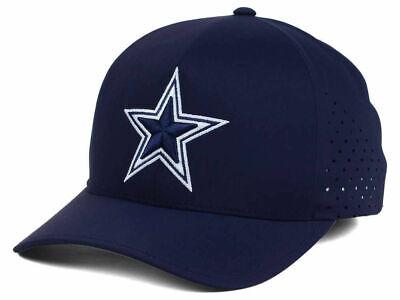 DALLAS COWBOYS NFL TEAM SHOP PERFORMANCE DELTA FLEX SZ SML-MED NAVY HAT/CAP NWT (Dallas Cowboys Shopping)