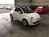 2010 fiat 500 lounge 1.2cc white 1 owner guaranteed cheapest in country