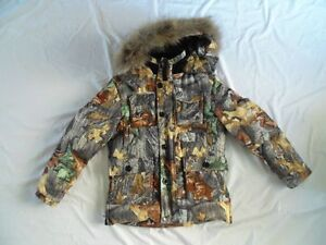 delux winter jacket, down-filled, autumn camo, size S West Island Greater Montréal image 3