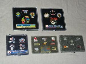 Nascar Racing Indy Wallace Martin Gordin Pin Sets or Bobblehead