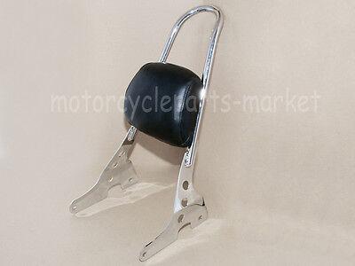 Passenger Backrest Pad Sissy Bar Cushion For Harley Sportster XL 883 04-up 1200