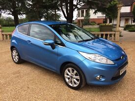 FORD FIESTA 1.4 Zetec, MOT June 2018, Just Serviced, Excellent All Round (blue) 2009