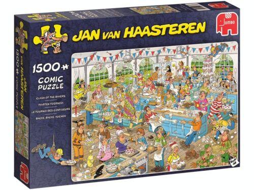 Jumbo Jan Van Haasteren 1500 Piece Jigsaw Puzzle - Clash Of The Bakers