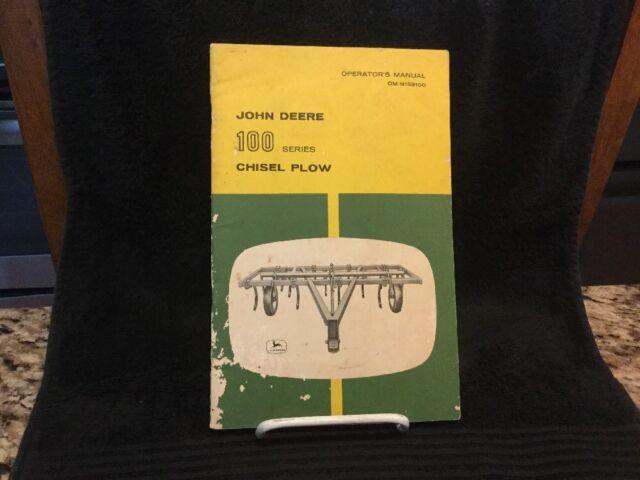 Vintage John Deere Operators Manual - 100 Series P