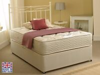BRAND NEW 3' SINGLE firm divan bed set, now £195