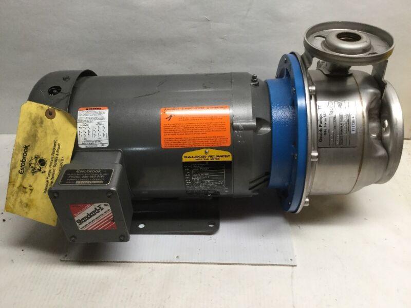 Goulds Pumps ITT G&L Series SSH 9SHK6 1 X 2-6 5HP Baldor Industrial Motor