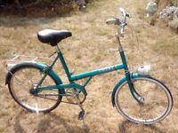 Vintage 1976 Raleigh 20 Shopper Non-Folding bike-working Sturmey Archer Dynohub