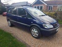 Vauxhall Zafira Design, Dualfuel LPG, full MoT, very smart.