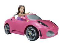 Pink Ferrari motorised car
