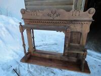 ANTIQUE SHELF WITH MIRROR