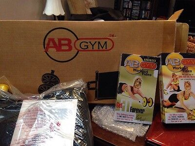 AB GYM 3 In 1 Exerciser Black With 2 Videos For VCR