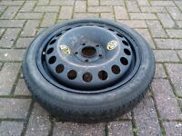 Saab 95 9-5 93 Space Saver Spare Wheel With Continental Tyre T 115/70. R. 16