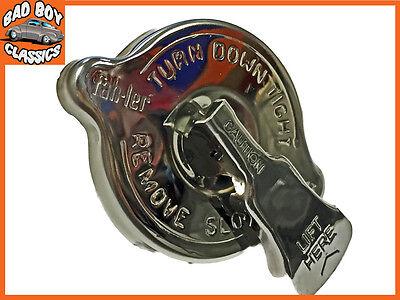 Acero Inoxidable Seguridad Rueda Tapón De Radiador 7lbs Para Mgb 1962-1966